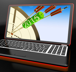 2015 Arrows On Laptop Showing Future Target Plans