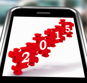 2015 On Smartphone Showing Future Celebrations