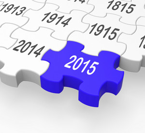 2015 Puzzle Piece Shows New Year's Festivities