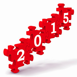 2015 Puzzle Showing Future Years Calendar