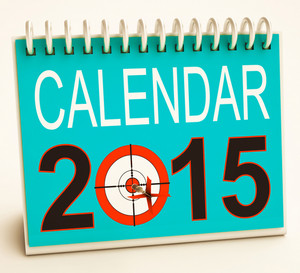 2015 Schedule Calendar Shows Future Business Targets