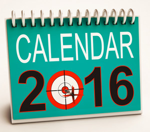 2016 Calendar Shows Future Target Plan