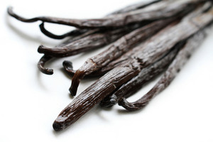 Fresh Vanilla Pods Isolated On White Background