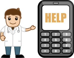24x7 Call On Help - Doctor & Medical Character Concept