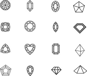 2d Diamonds Set