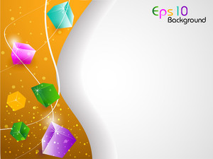 3d Abstract Shapes Background With Colorful Design For Text Project Used And Copy Space