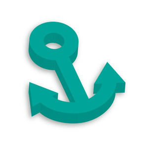 3d Anchor Icon