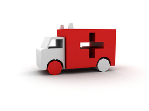 3d Cartoon Ambulance