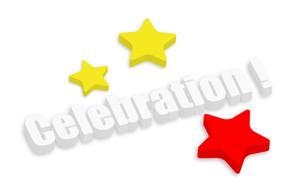 3d Celebration Stars