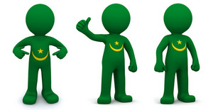 3d Character Textured With Flag Of Mauritania