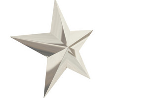 3d Chrome Star