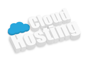 3d Cloud Hosting Text