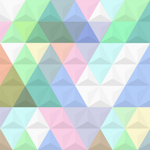 3d Colored Background From Pyramids