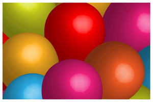 3d Colored Balloons Background