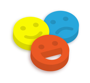 3d Colorful Smiley