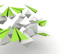 3d Cubes With Paper Planes