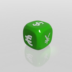 3d Currency Symbols Dice