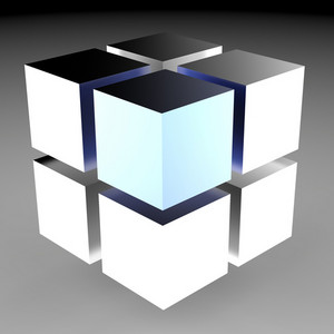 3d Design Blocks Show Futuristic Graphic