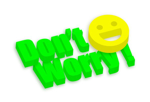 3d Don't Worry Smiley Banner