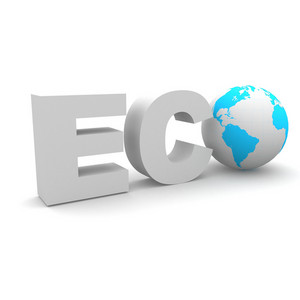 3d Eco Text With Earth