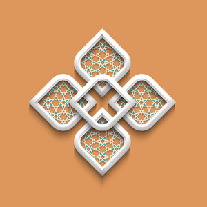 3d Elegant Pattern In Arabic Style