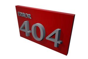 3d Error 404 Icon