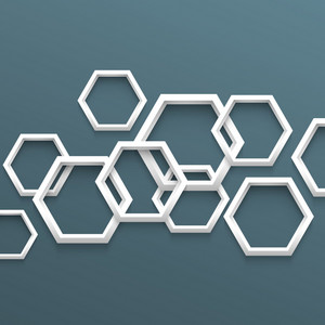 3d Geometric Background With Hexagons