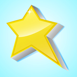 3d Glossy Star