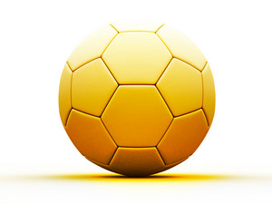 3d Gold Soccer Ball