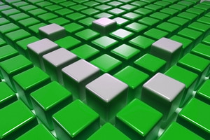 3d Green Blocks