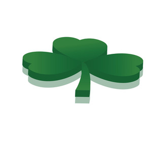 3d Green Shamrock Vector Element