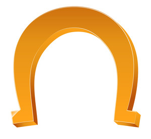 3d Horseshoe Vector Element