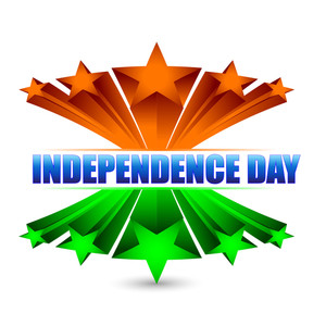 3d Indian Flag Background With Text Independence Day..