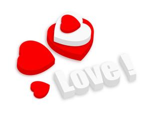 3d Love Hearts