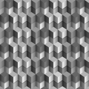 3d Monochrome Cubes Background