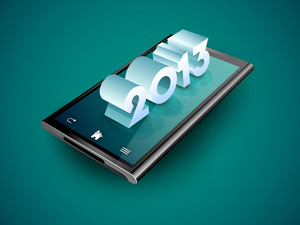 3d New Year Text On A Tablet Screen