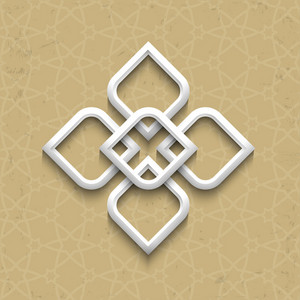 3d Pattern In Arabic Style On Grunge Background