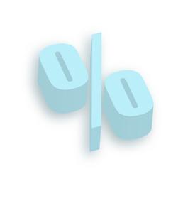 3d Percent Symbol
