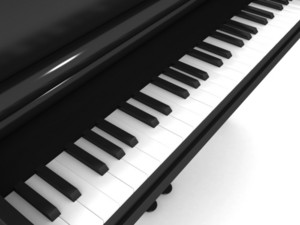 3d Piano Illustration
