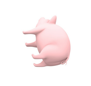 3d Piggy Lying