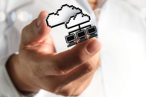 3d Pixel Cloud Network Icon