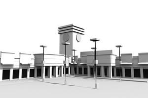 3d Plaza Model