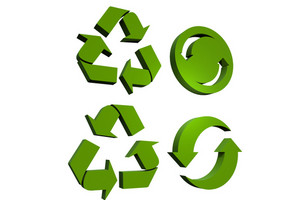 3d Recycling Icons