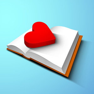 3d Red Heart On Notebook