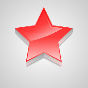 3d Red Star