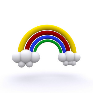 3d Rendered Rainbow