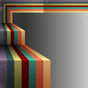 3d Retro Abstract Background