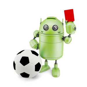 3d Robot Playing Soccer