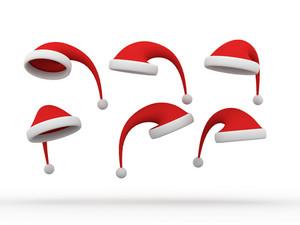 3d Santa Caps Collection