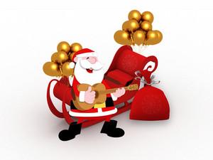 3d Santa Sleigh Copy